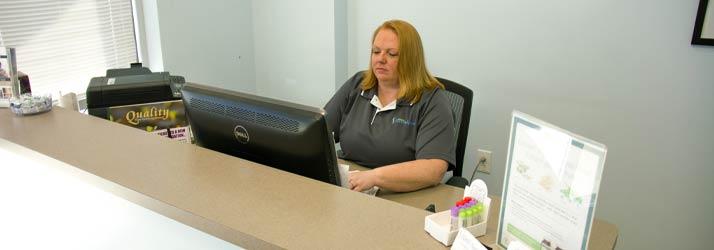 Chiropractic Brownsburg IN Reception Desk